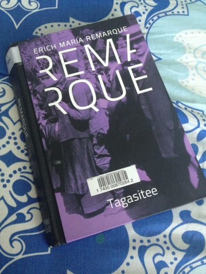 Finished the last novel from Remarque (my favourite writer) in September. I've read all of them.