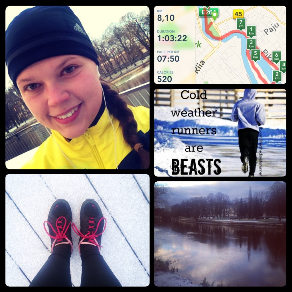 Ran the first time in negative degrees and snow at the end of November.