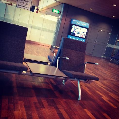 Waiting in Arlanda Airport