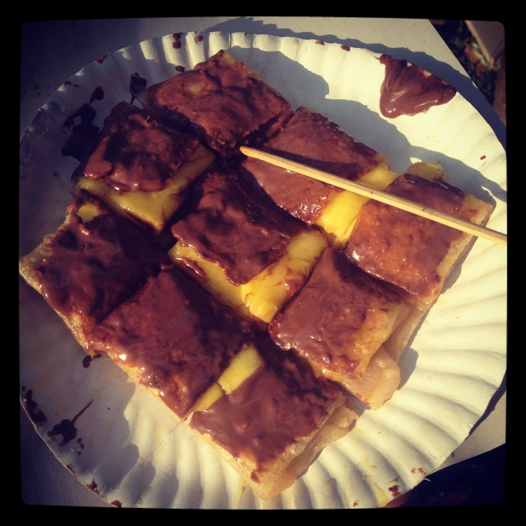 Mango roti with Nutella