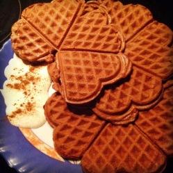 Chocolate protein waffles (DF, LC, GLF, GRF, SF)