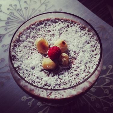 Chocolate coconut panna cotta (LC, GLF, GRF, SF)
