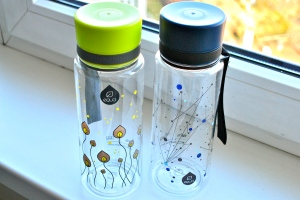 My new bottles: Green Leaves and Universe