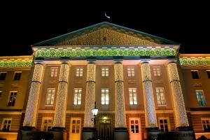 Tartu Ülikooli peahoone. Jõulud 2012. Foto: M. Partei