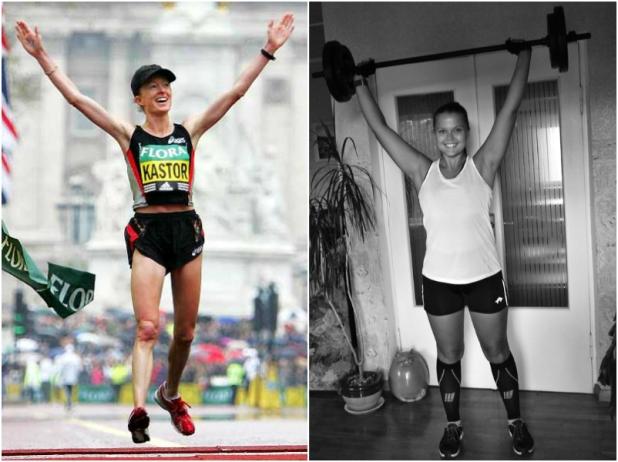Maratoonar Deena Kastor vs mina. Allikad: InsideSoCal ja erakogu