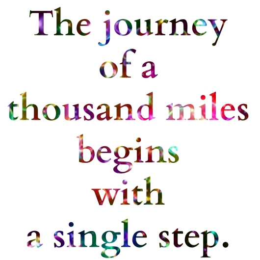 the journey of a 1000 miles begins with a single step