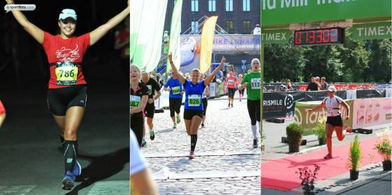 Fotod: Eesti Ööjooksu poolmaratoni finiš 2014 (I. Avaste), SEB Tallinna Maratoni poolmaratoni finiš 2014 (K. Jahilo), A. le Coq Igamehetriatloni finiš 2014 (erakogu)