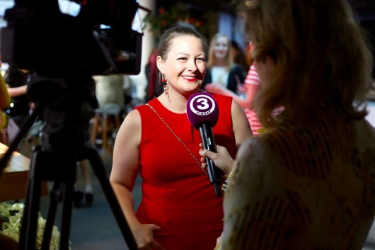 Mari-Leen ehk pool Marimelli TV3-le intekat andmas. By Marimell FOTO
