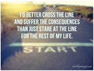 i'd better cross the line