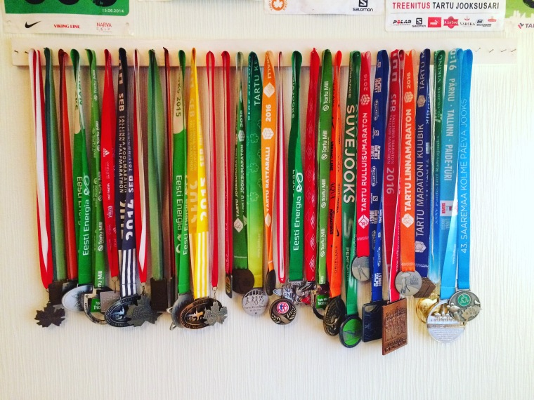 Minu medalikollektsioon. Üle poole neist tuli sellel aastal.