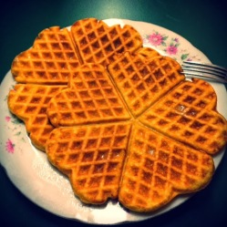 Coconut flour waffles (DF, LC, GLF, GRF, SF)