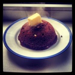 Gingerbread & chocolate flax seed mug cake (LC, GLF, GRF, SF)